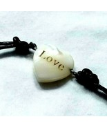 F20 Mother of pearl LOVE bracelet American Eagle Leather cord - $19.55