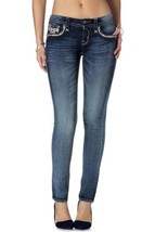 NEW ROCK REVIVAL WOMENS JEANS XIA S202 CLASSIC SKINNY CUT JEAN DENIM RP9112S202