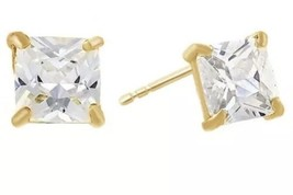 4 Ct 18K Yellow Gold Over Sterling Silver White Sapphire Stud Earrings f... - $28.01