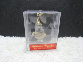 Leaded Crystal With 24 KT Gold Accents, Santa, Christmas Tree Ornament - $12.95