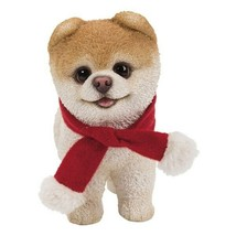 Pacific Giftware PT Short Hair Boo Dog with Red Christmas Scarf Decorati... - $19.79