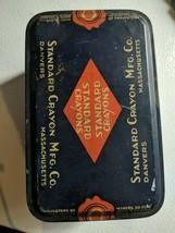 Vintage Standard Crayon MFG. Corp. Metal Tin Omega Dustless Crayons - $19.39