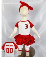 Personalized Boston  Red Sox Baseball Onesie Girls Uniform Jersey - $21.95+
