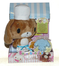 Sanrio Sugarbunnies Kurousa Share & Play Plush doll toy bunny with Cooki... - $15.95