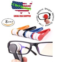 8 Pcs Mini Sun Glasses Eyeglass Microfiber Spectacles Cleaner Brush Clea... - $4.50+
