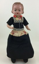 "Vintage Dutch Doll 17"" Norwegian Cloth and Celluloid Bisque with Stand 1... - $44.50"