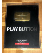 YouTube Gold Play Button golden award plaque paperweight metal Twitch Yo... - $55.19
