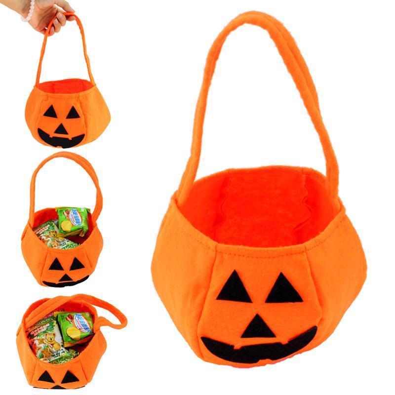 Halloween Party Supplies Fabrics Pumpkin Bags Halloween Props Kids Children