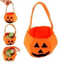 Halloween Party Supplies Fabrics Pumpkin Bags Halloween Props Kids Children - £3.82 GBP