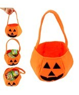 Halloween Party Supplies Fabrics Pumpkin Bags Halloween Props Kids Children - £3.79 GBP