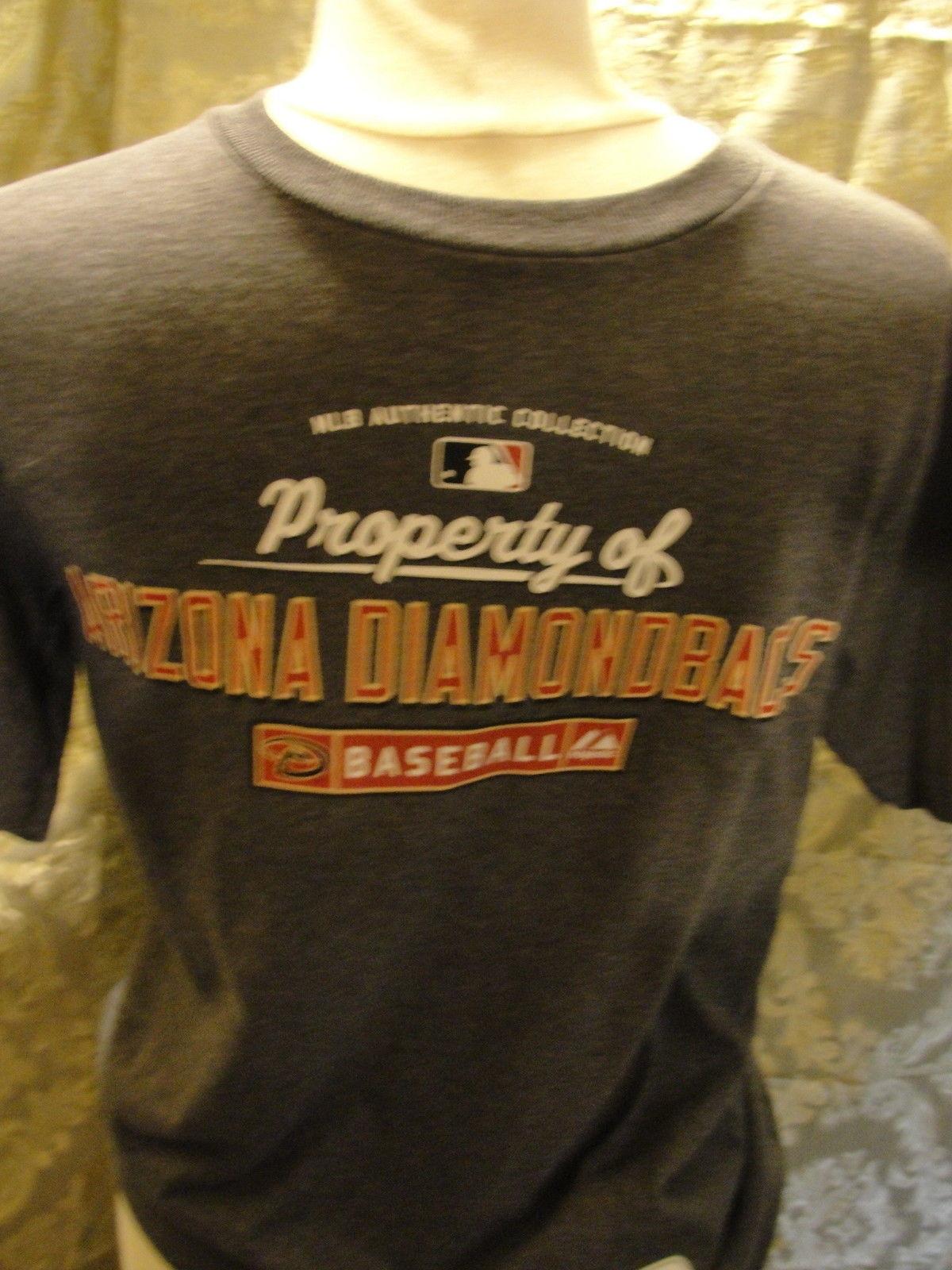 MLB Arizona Diamondbacks short sleeve gray T-shirt size large. Made by Majestic. - $14.20