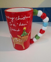 "Sandra Magsamen Mug Merry Christmas to a ""dear"" friend Coffee Cup - $13.86"
