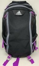 Adidas Black Purple Climaproof Climacool Load Spring Backpack Laptop Bag - $37.39