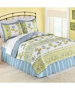 Dutch Tulip Embroidered Floral Quilt, Yellow, Full/Queen - $107.41