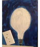 BRIGHT IDEA Pop Art PAINTING - New Original 11x14 - $94.95