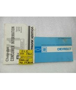 1971 CHEVROLET CHEVY Owners Manual Set 15973 - $18.76