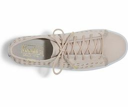 Keds WH59087 Women's Triple Kick Perf Leather Pink shoes, 6 Med image 3