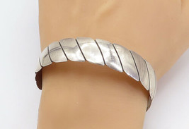 SOUTHWESTERN 925 Sterling Silver - Vintage Flat Twist Bangle Bracelet - ... - $154.42