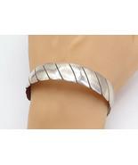 SOUTHWESTERN 925 Sterling Silver - Vintage Flat Twist Bangle Bracelet - ... - $154.42