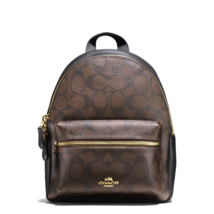 NEW COACH (F58315) BROWN MINI CHARLIE SIGNATURE LEATHER BACKPACK BAG - $120.00