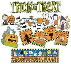Eureka Peanuts Halloween 'Trick or Treat' Mini Bulletin Board for Teache... - $9.94