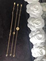 Auth Christian Dior SET DIO(R)EVOLUTION J'ADIOR TRIPLE CRYSTAL GOLD BRACELET image 5