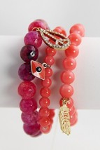 "NEW ""KJL"" KENNETH JAY LANE COUTURE COLLECTION GEMSTONE & CHARM BRACELET ... - $25.00"