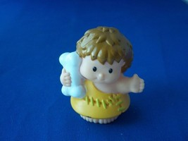Fisher Price Little People Cave Man Boy with Bone - $4.50