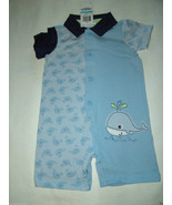 First Impressions, Baby Boy's Cotton, Collared, S/S Sunsuit. Size 6-9 Mo... - $9.89