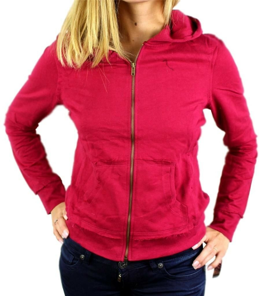 NEW NWT LEVI'S JUNIORS BASIC CLASSIC COTTON ATHLETIC HOODIE JACKET SWEATER RED