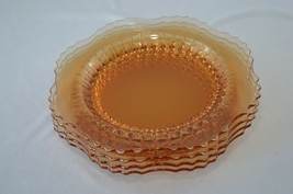 4 New Martinsville Radiance Amber Luncheon Plates - $59.40