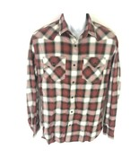 Banana Republic Men's Black Pearl Snap Shirt Red M - $24.74