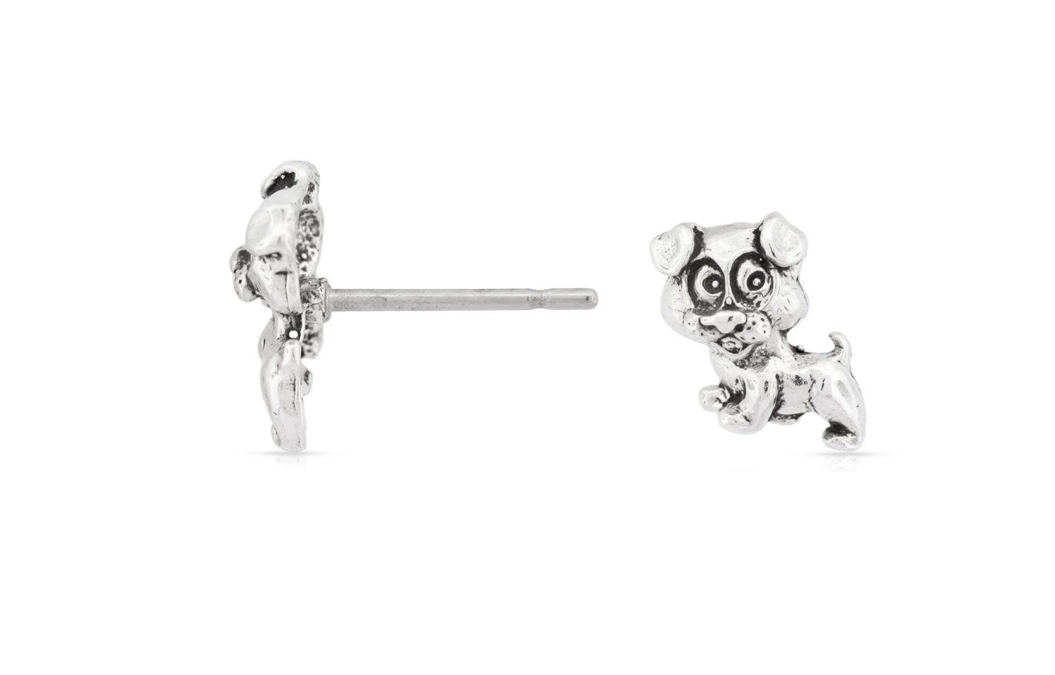 Primary image for Ear studs, Puppy,  925 Sterling Silver, 7.5mm, Pkg Of 1Pair (4112)/1