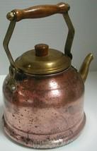 La Belle Cuisine Vintage French Copper Brass Tea Kettle by Centuria In - $18.75