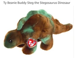 Ty Beanie Buddy Steg the Stegosaurus Dinosaur 2000, Rare Retired & New - $24.74