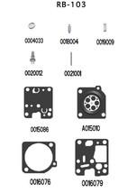 OEM REBUILD repair kit CARBURETOR carb zama rb-103 rb103 RB-FR3A RB-FR3 - $19.99