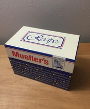 Vintage 1980 Mueller's Pasta Aluminum Recipe Box