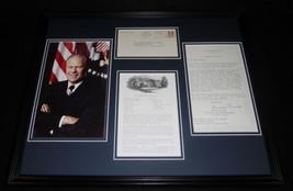 Gerald Ford 16x20 Framed ORIGINAL 1975 Strawberry Torte Recipe & Photo D... - $123.74
