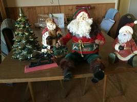 Christmas  Decorations 3 Santas, Christmas Tree, Nutcracker - $34.65