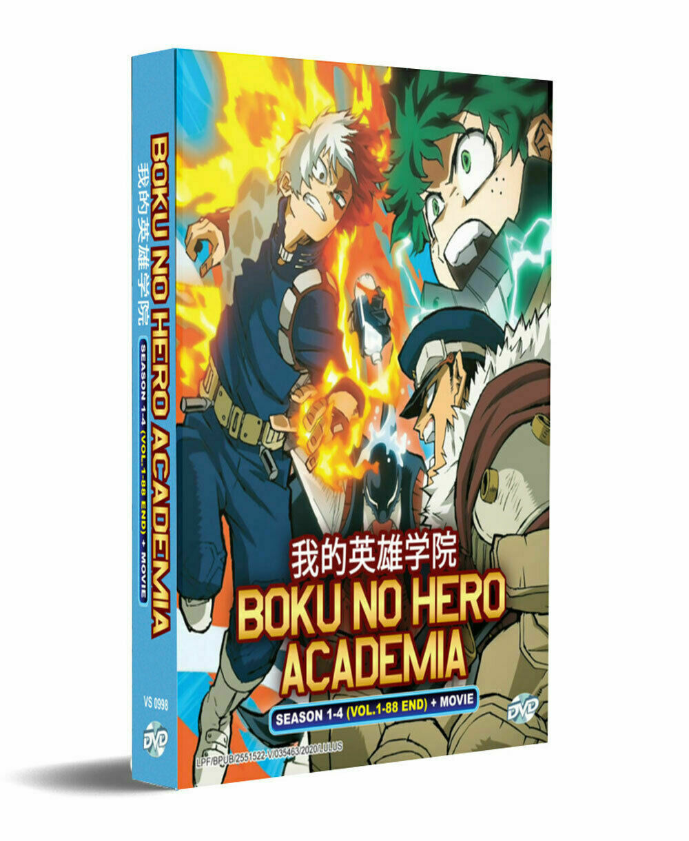 Boku No Hero Academia Season 1-4 DVD Vol.1 - 88 end + Movie English Dubbed USA