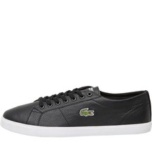 d9bdb5727c085c Lacoste Mens Riberac Leather Trainers Black -  78.69
