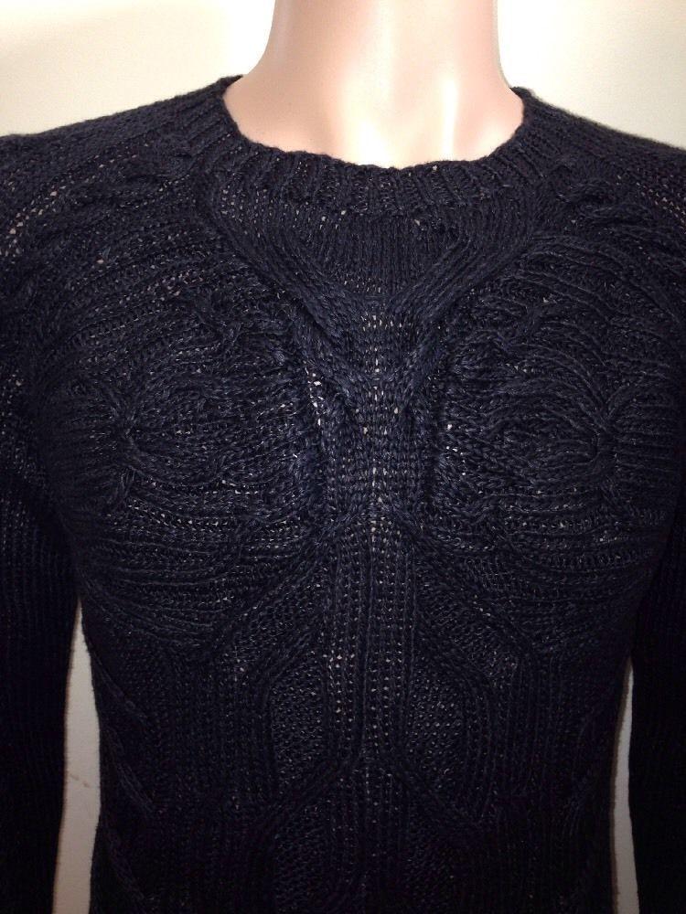 Ralph Lauren Mens Black Label Hand Knitted Linen Jumper Size Medium
