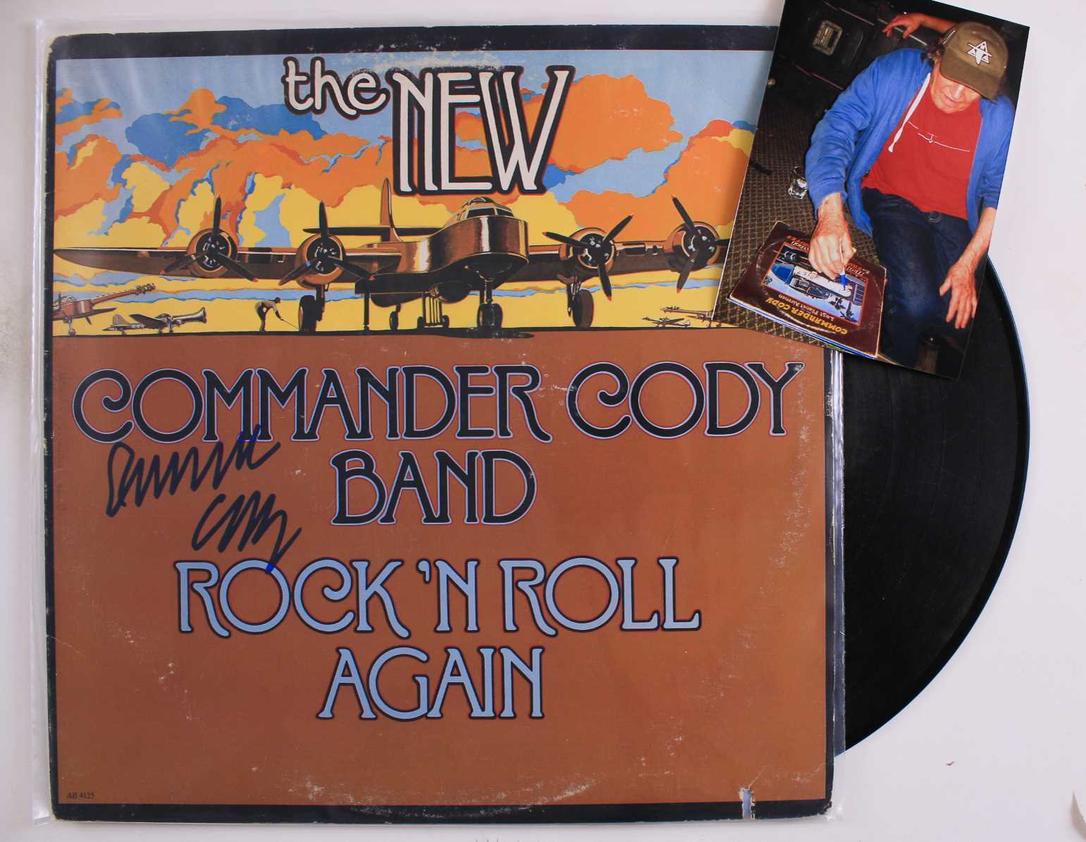 Primary image for Commander Cody Signed Autographed Record Album w/ Proof Photo