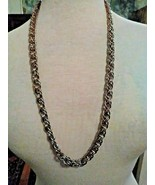 """VINTAGE GOLDEN CHAIN MULTI LINKS NECKLACE THICK BUT LIGHTWEIGHT 24"""" LONG - $25.00"""