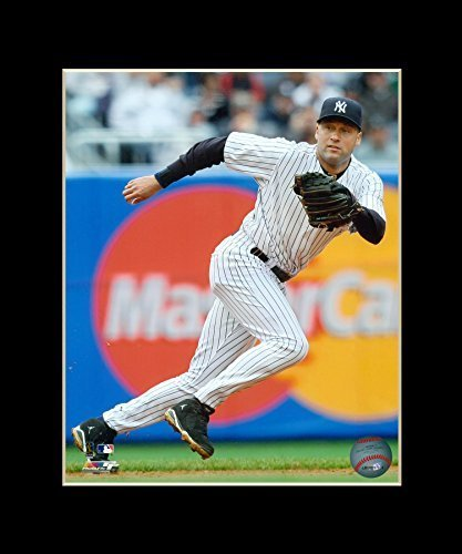 Derek Jeter - New York Yankees Matted 8x10 Licensed Photograph in 11x14 Black Ma