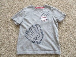 Gymboree short sleeve crew neck tee, boys, Size 7, 100% cotton, pre-owned, grey - $1.97