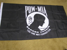"Great PRISONER OF WAR Flag  ...3'  X  5'...Never Used !""You Are Not Forg... - $24.34"