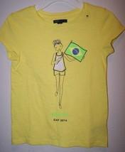 Gap Girls Yellow Brazil Brasil 2016 Flag T-Shirt Collectible Size S M L Xl Xxl - $6.75