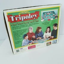 Tripoley Board Game Deluxe Mat Version Cadaco 2-9 Players Vintage 1999 Complete image 7