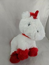 "Animal Adventure Unicorn Plush White Red 7"" 2016 Stuffed Animal Toy - $9.95"